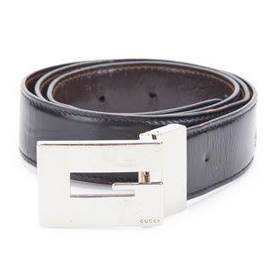 RARE Authentic Gucci Vintage Leather G Logo Belt
